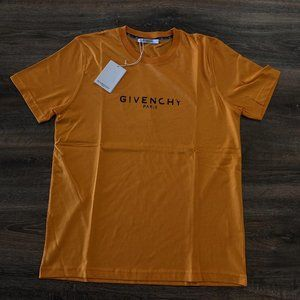 "Givenchy Men Orange Short Sleeve T-Shirt ""XL"""